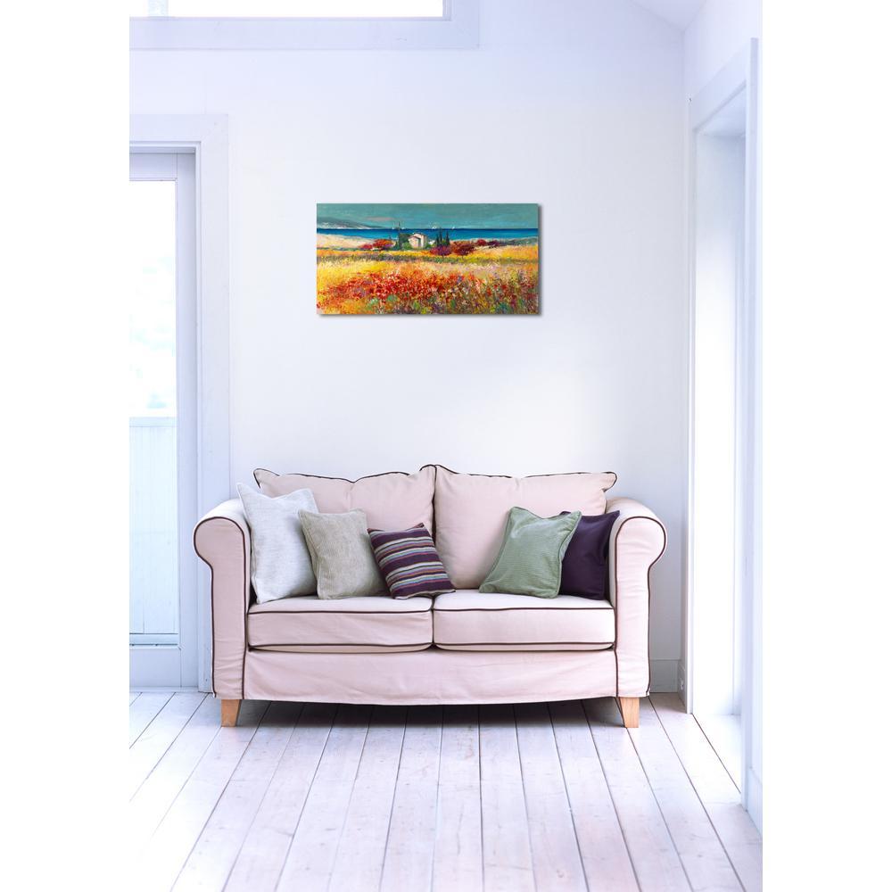 18 in. H x 36 in. W 'SAI - Peaceful Fields II' by Oliver Gal Framed Canvas Wall Art