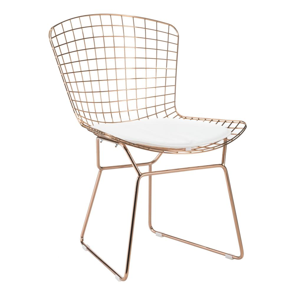 Zuo white mesh wire outdoor chair cushion