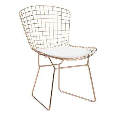 White Mesh Wire Outdoor Chair Cushion