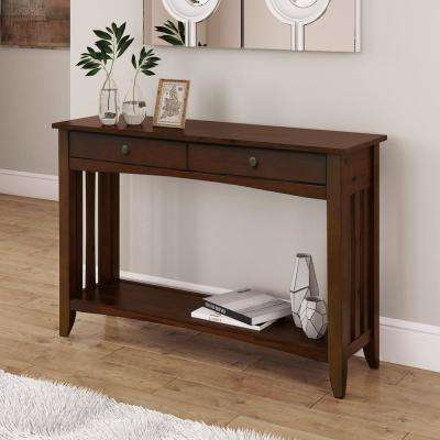 Crestway Cappuccino Console Table with Drawers