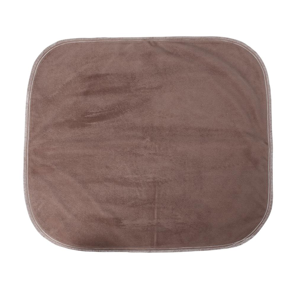 MABIS Brown Velour Protective Seat Pad Protective bottom layer is water resistant. Polyester/rayon layer provides maximum absorption. Easy to handle and convenient to use.