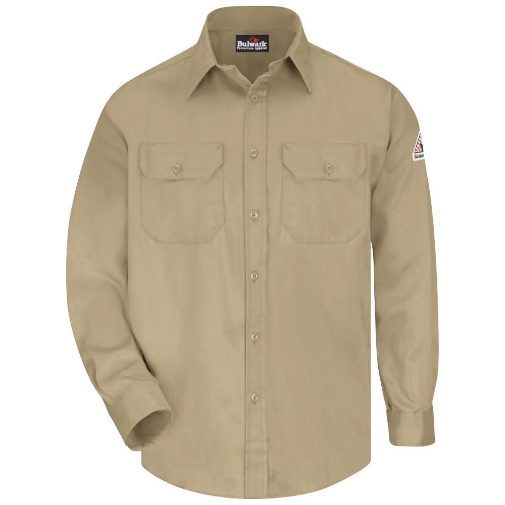EXCEL FR ComforTouch Men's Small Khaki Uniform Shirt
