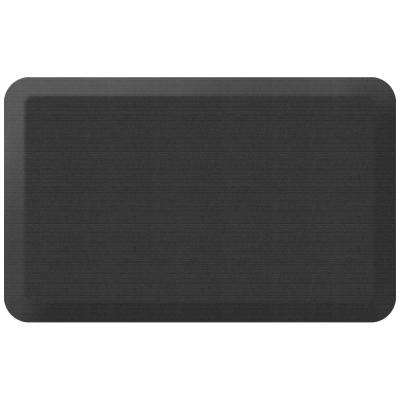 Designer Grasscloth Charcoal 20 in. x 32 in. Anti-Fatigue Comfort Kitchen Mat