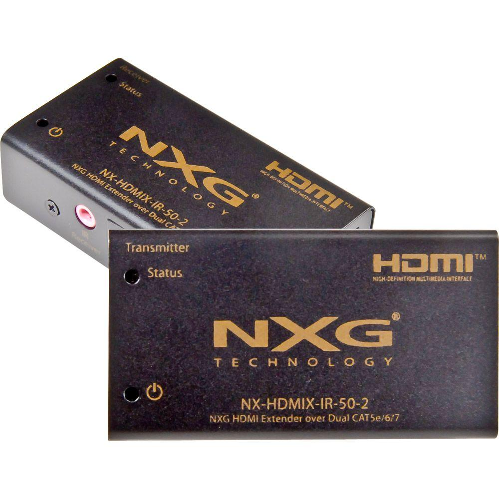 NXG HDMI Extender 165 ft. Over Dual CAT5e/6 with IR 1080p-DISCONTINUED