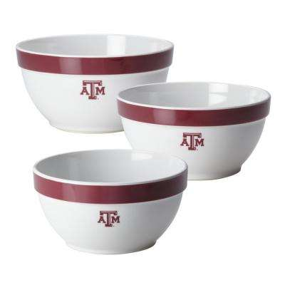 Texas A&M Party Bowls Set, 3-Piece, Maroon