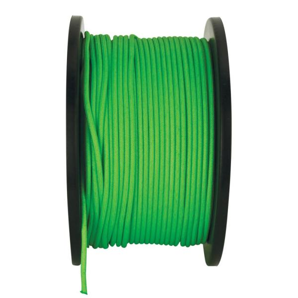 1/8 in. x 500 ft. High Visibility Paracord Rope in Green