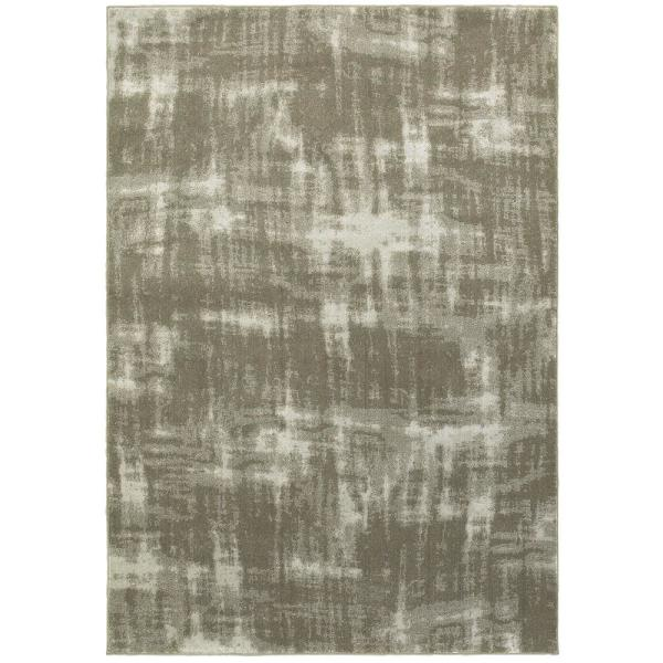 Raelynn Grey Ivory 4 Ft X 6 Ft Abstract Area Rug 995214 The Home Depot