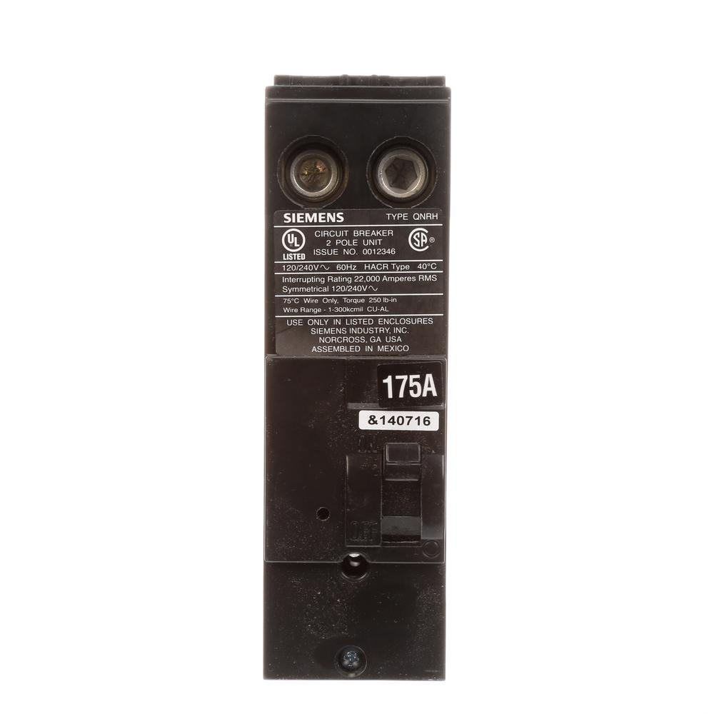 siemens 175 amp double pole circuit breaker type qnrh qn2175rh the home depot. Black Bedroom Furniture Sets. Home Design Ideas