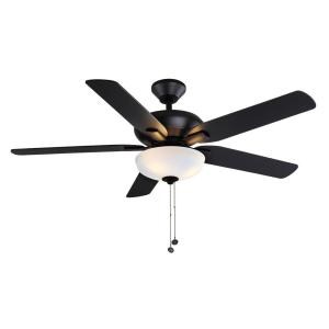 Holly Springs 52 in. LED Matte Black Ceiling Fan