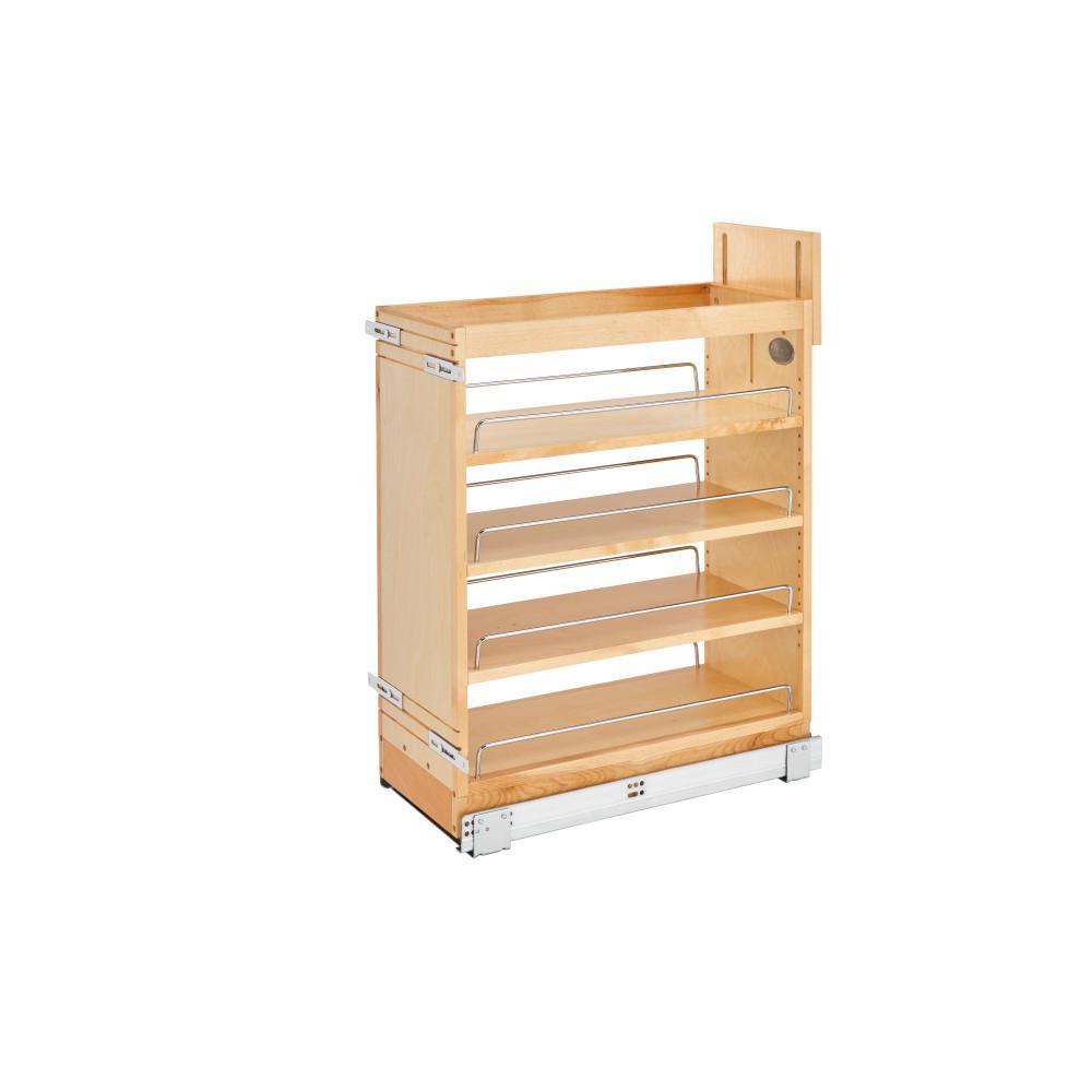 Rev-A-Shelf 25.5 in. H x 9.5 in. W x 21.62 in. D Pull-Out Wood Base Cabinet Organizer with Soft-Close Slides