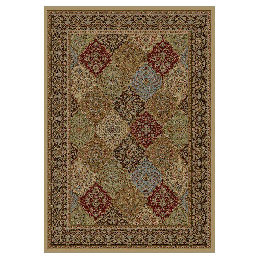 Kas Rugs Panel Delight Mocha 5 ft. 3 in. x 7 ft. 7 in. Area Rug