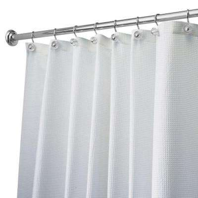 Carlton Extra-Long Shower Curtain in White
