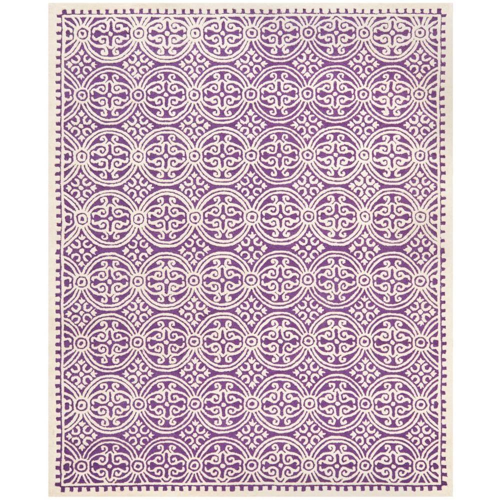 Safavieh Cambridge Purple Ivory 10 Ft X 14 Ft Area Rug