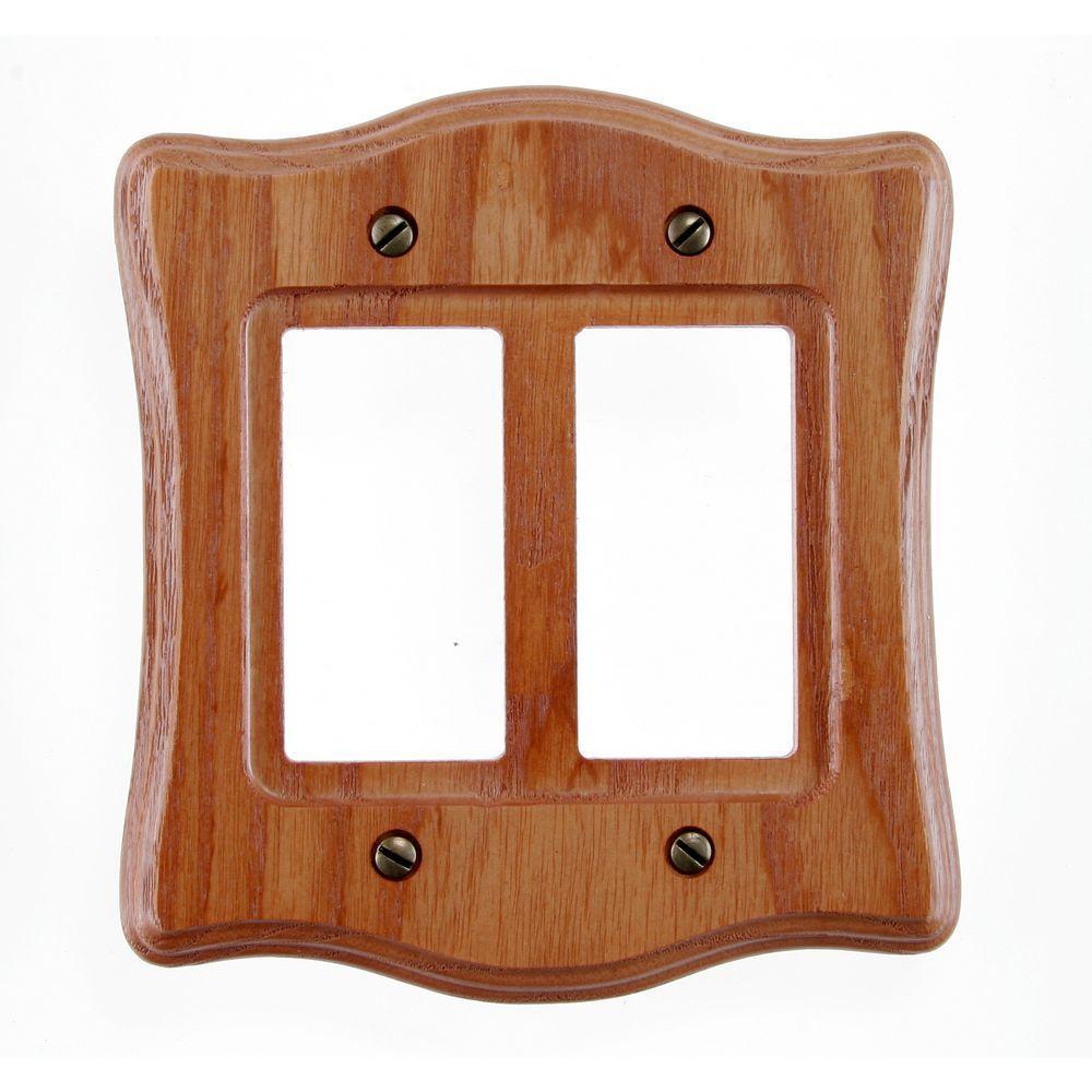 Austin Medium 2 Rocker Wall Plate - Oak