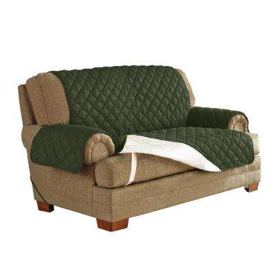 Moss Green Ultimate Waterproof Furniture Protector Treated with NeverWet Loveseat