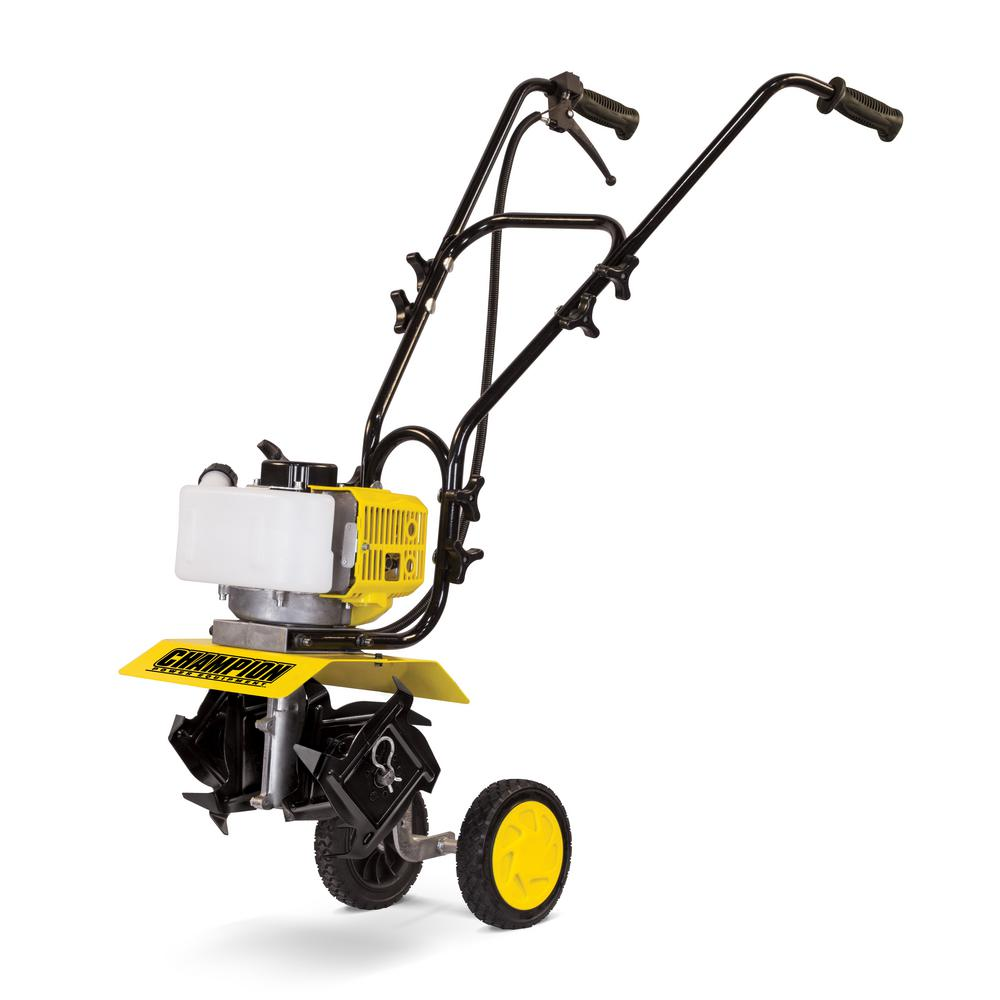 pleasurable home depot garden tillers. Champion Power Equipment 43cc Gas Landscaping Cultivator 100378