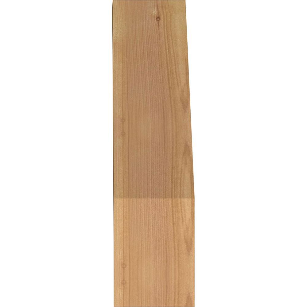 Ekena Millwork 3 5 In X 14 In X 10 In Western Red Cedar Fuston Smooth Brace Brc04x10x14fst00swr The Home Depot