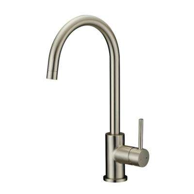 Eastport Single-Handle Standard Kitchen Faucet in Satin Nickel