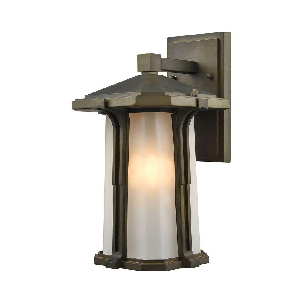 Brighton 1-Light Smoked Bronze LED Outdoor Wall Sconce