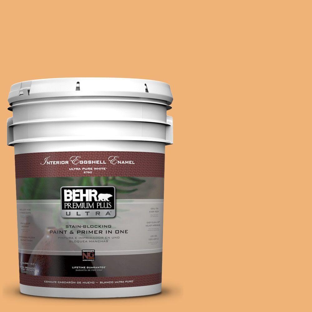 BEHR Premium Plus Ultra 5 gal. #290D-4 Arizona Eggshell Enamel Interior Paint and Primer in One