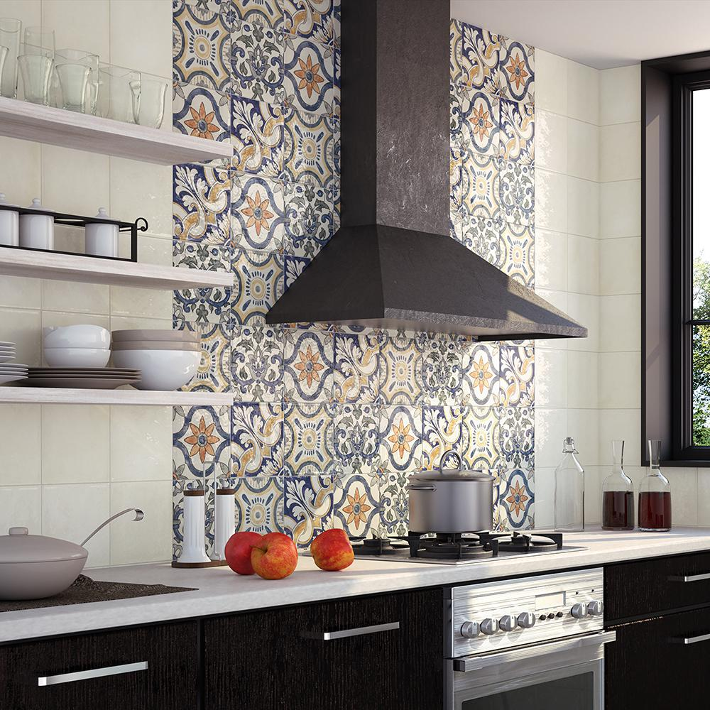 Merola Tile Bourges Mondo 7-7/8 in. x 7-7/8 in. Ceramic Wall Tile (11.46  sq. ft. / case)