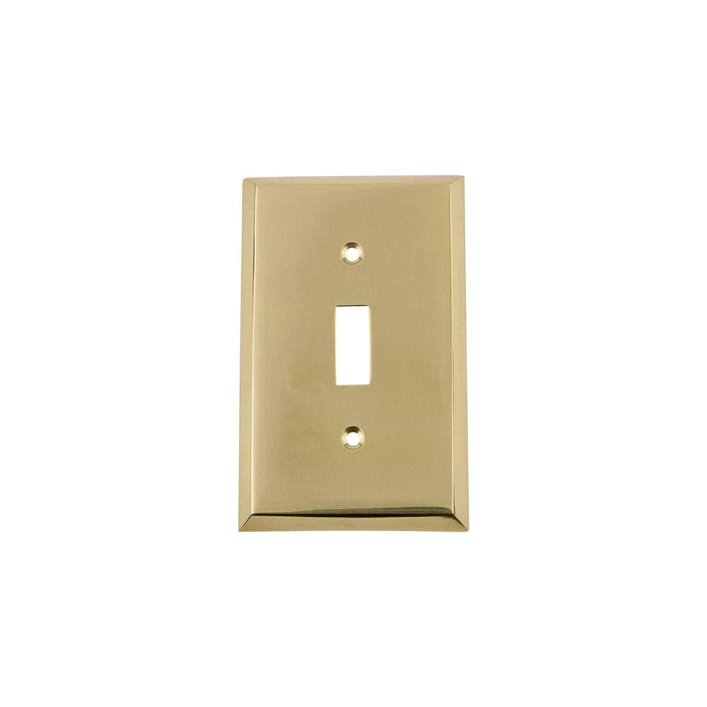 Nostalgic Warehouse Brass 1 Gang Toggle Wall Plate 1 Pack 719914 The Home Depot