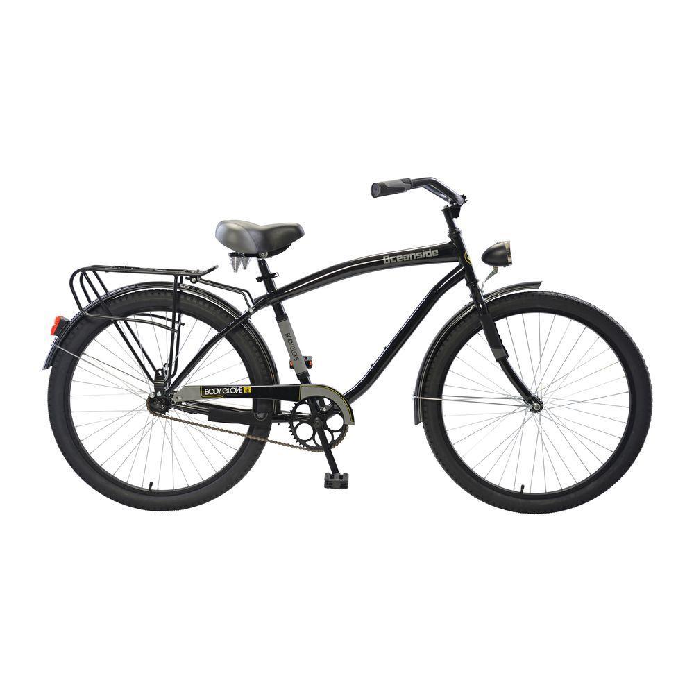 Oceanside Cruiser 26 in. Wheels Oversized Frame Men's Bike in Black