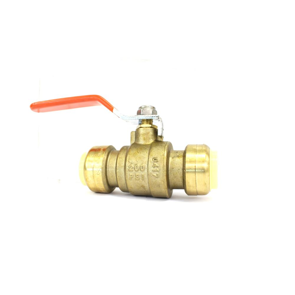Banjo Electric 3 Way Directional Ball Valve: 3/4 In. Brass Full Port Push Connect Plumbing Fitting Ball
