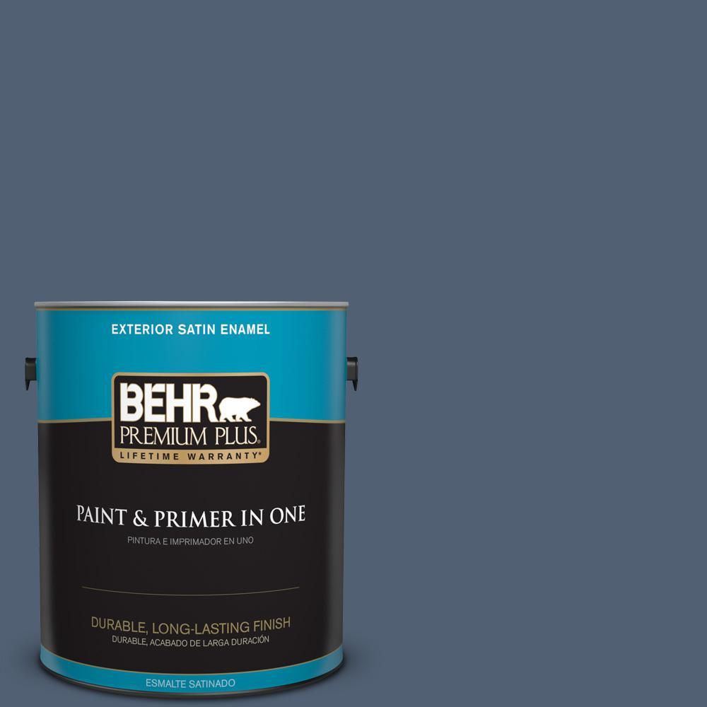 1 gal. #PPU14-19 English Channel Satin Enamel Exterior Paint