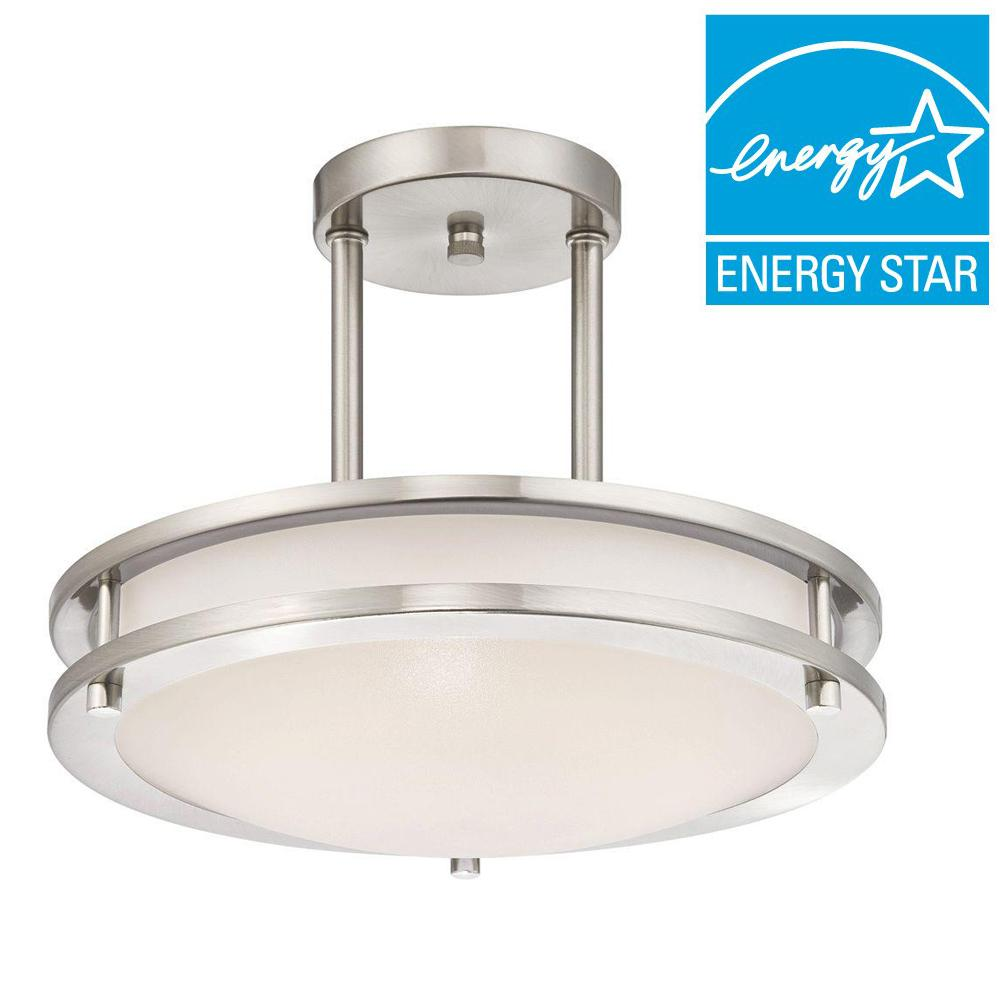 westinghouse 75 watt brushed nickel integrated dimmable energy star