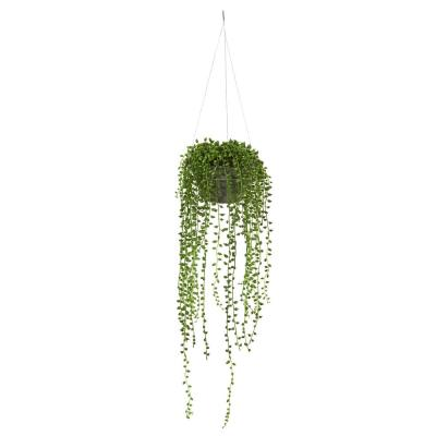 Indoor String of Pearl Artificial Plant Hanging Basket