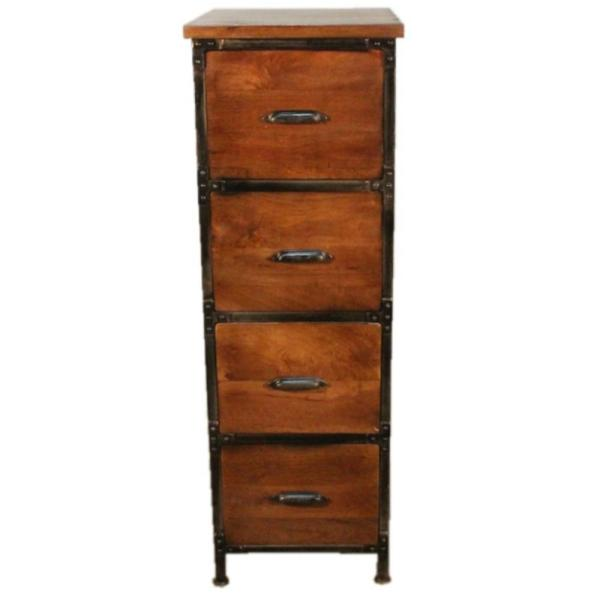 Y Decor Lafayette Medium Brown File Cabinet