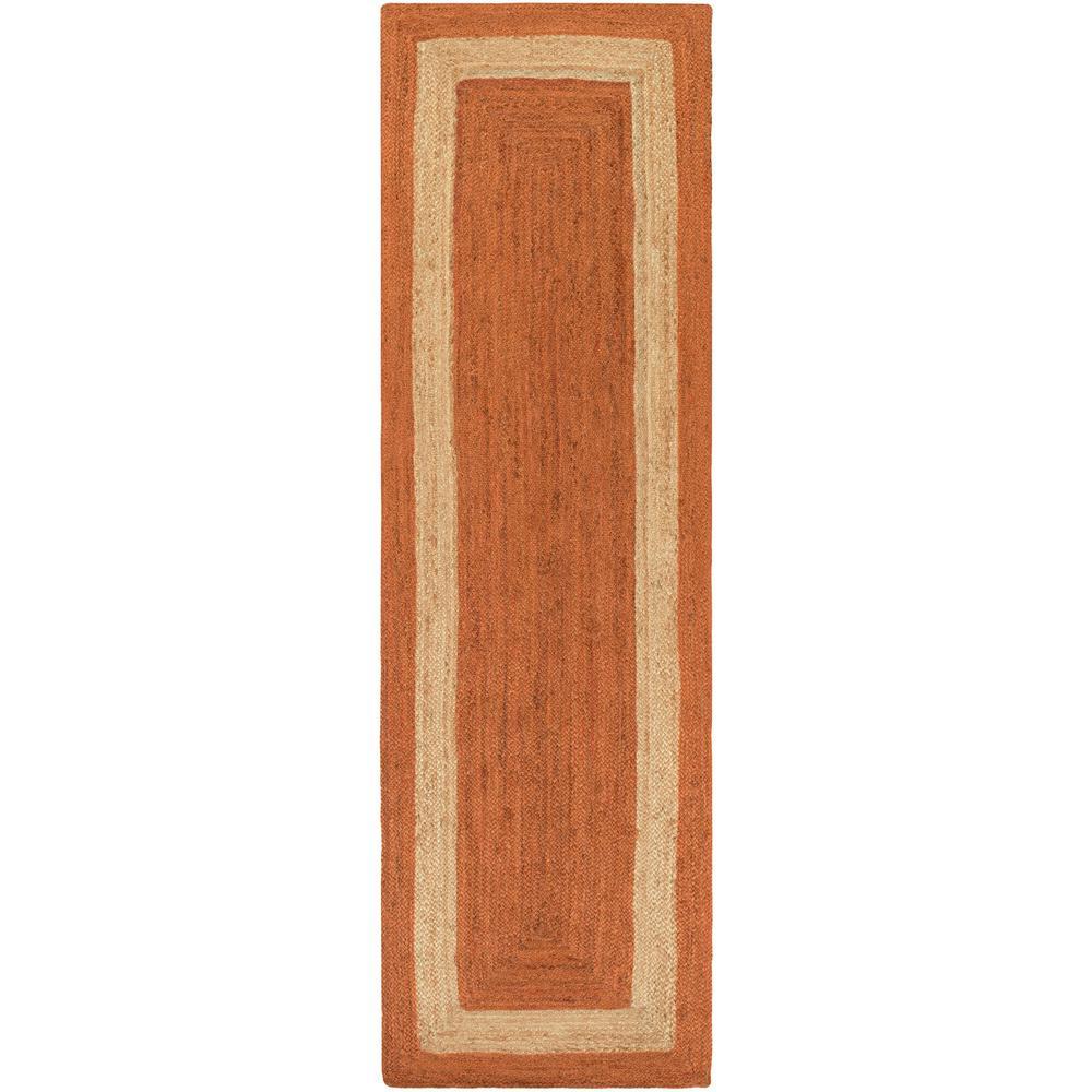 Caserta Bright Orange 3 ft. x 8 ft. Indoor Runner Rug