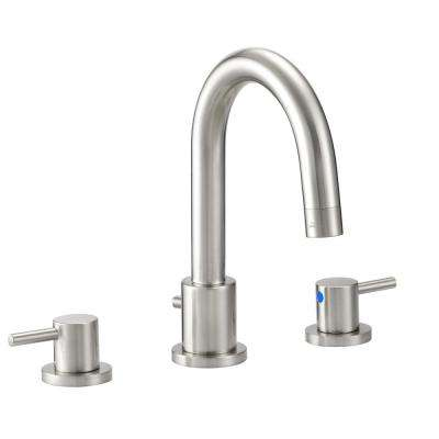 Eastport 8 in. Widespread 2-Handle Bathroom Faucet in Satin Nickel