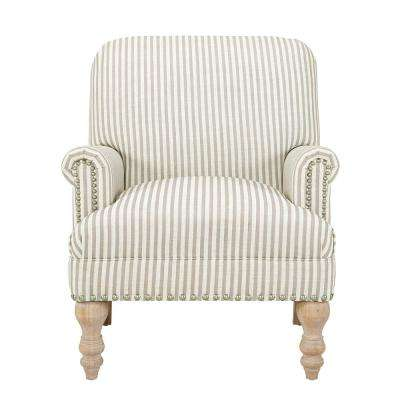 Joy Beige Upholstered Accent Chair