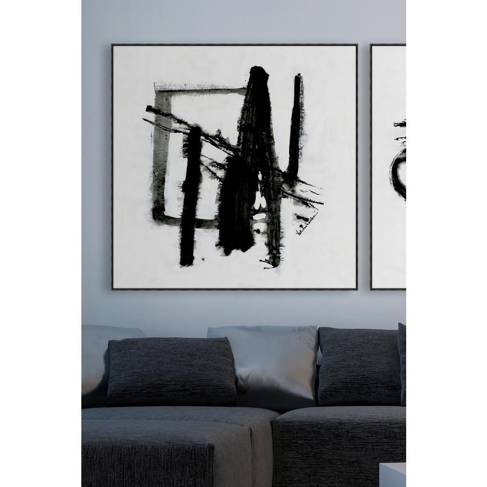 """39 in. x 39 in. """"Fluid II"""" Framed Canvas Wall Art"""