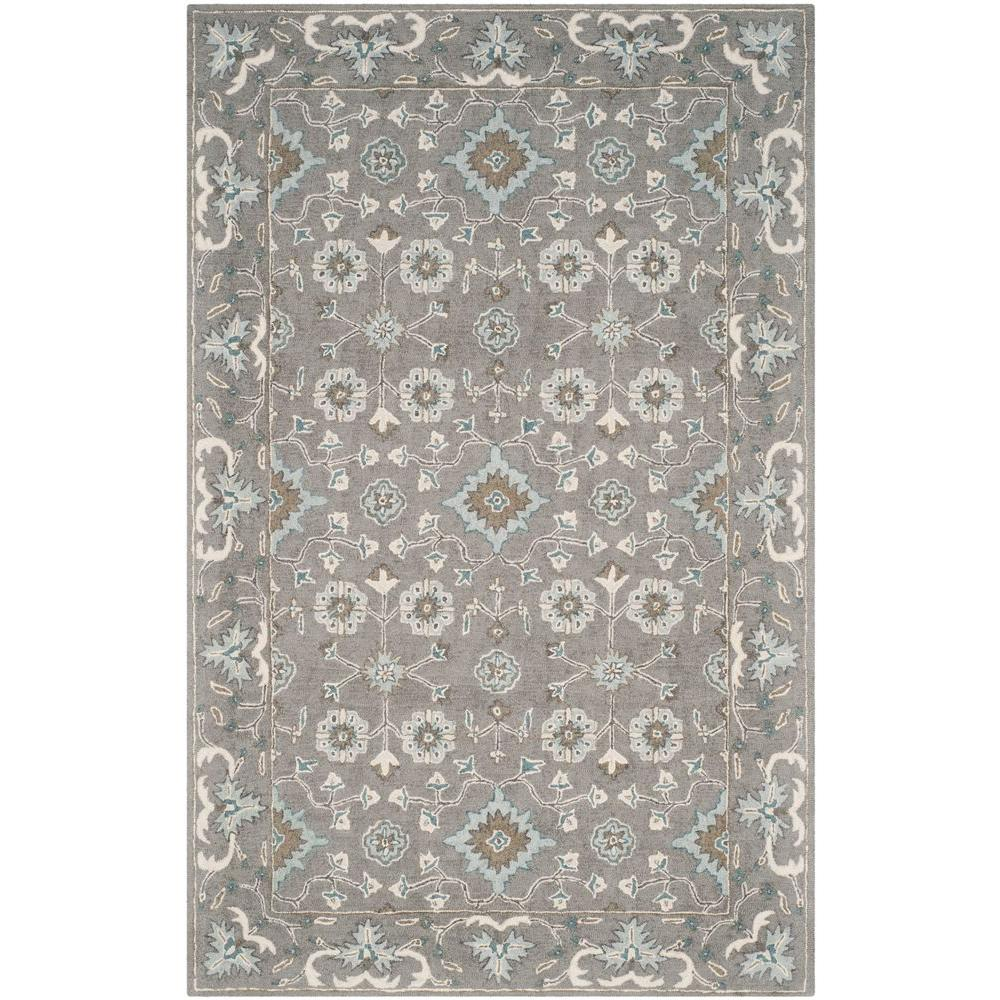 Blossom Grey 5 ft. x 8 ft. Area Rug