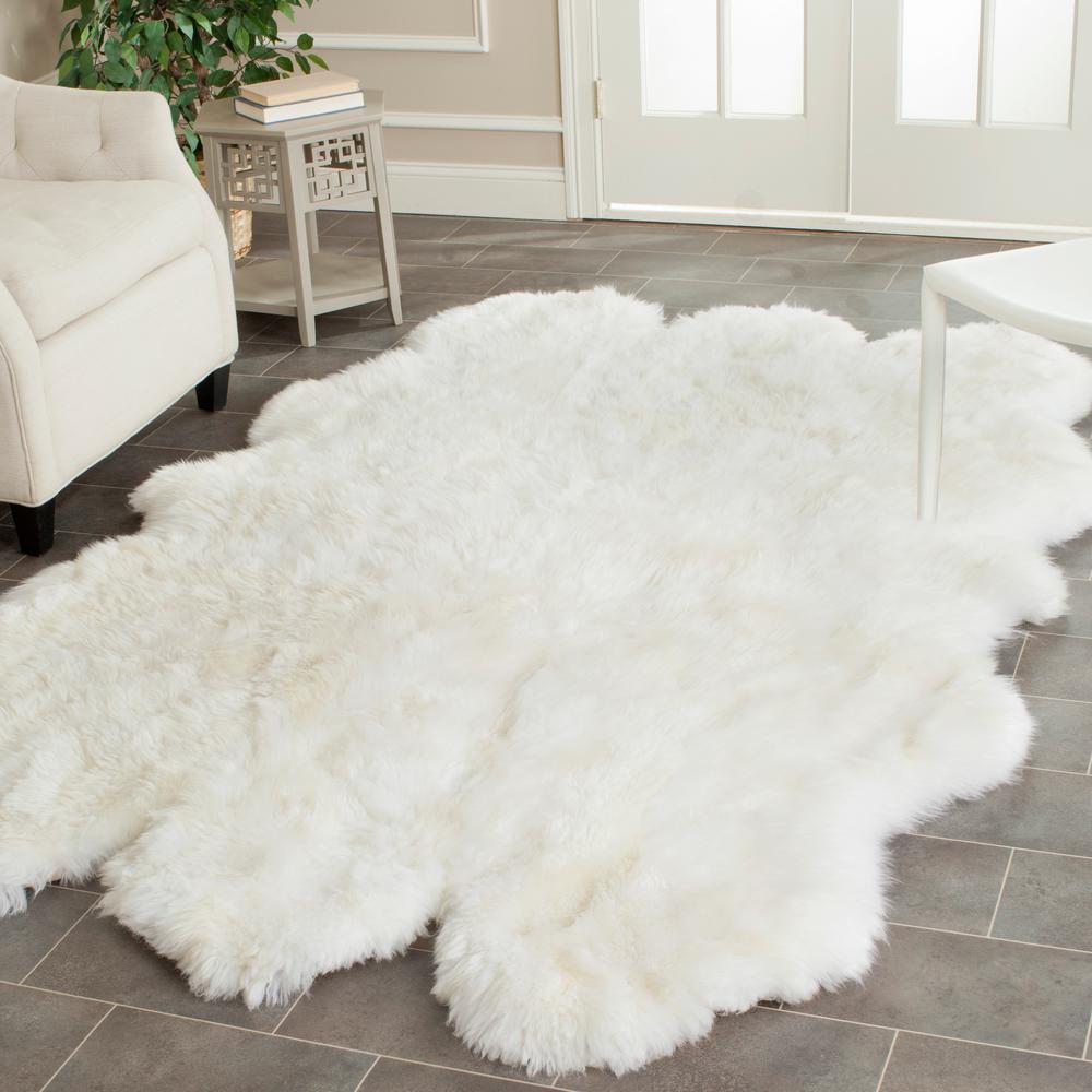 Sheep Skin White 5 ft. x 8 ft. Area Rug