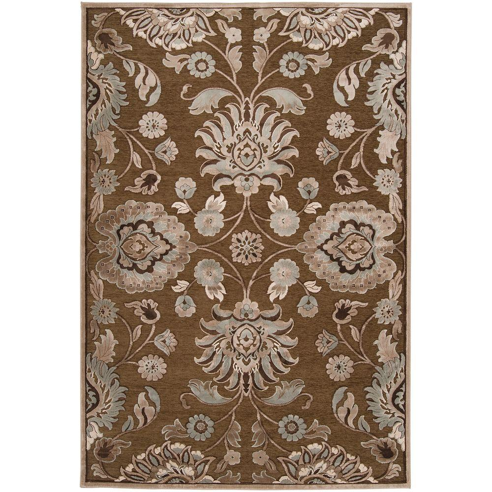 Artistic Weavers Lauren Chocolate Viscose and Chenille 7 ft. 6 in. x 10 ft. 6 in. Area Rug