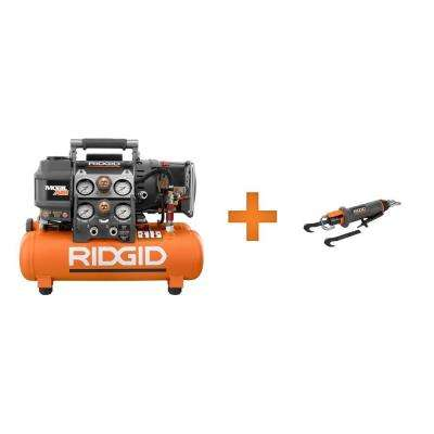 Tri-Stack 5 Gal. Air Compressor and Roofing Cutter Combo Kit