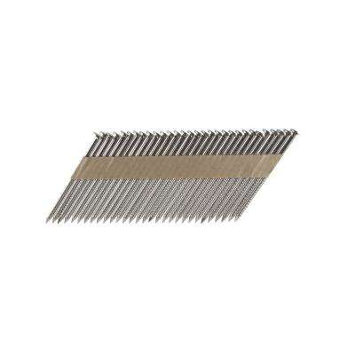 3-1/4 in. x 0.131 Paper Tape Collated Stainless Steel Ring Shank Framing Nails (500 per Box)