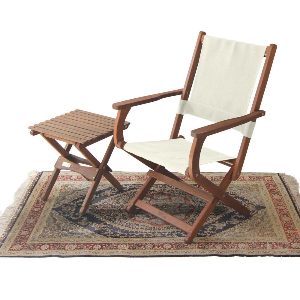 Joseph Byer Pangean Natural Wood or Green Keruing Wood Folding Outdoor Lounge Chair