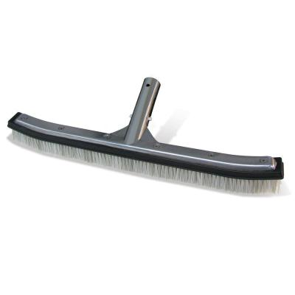 Premier Collection 18 inch Aluminum-Back Combo Bristle Swimming Pool Brush