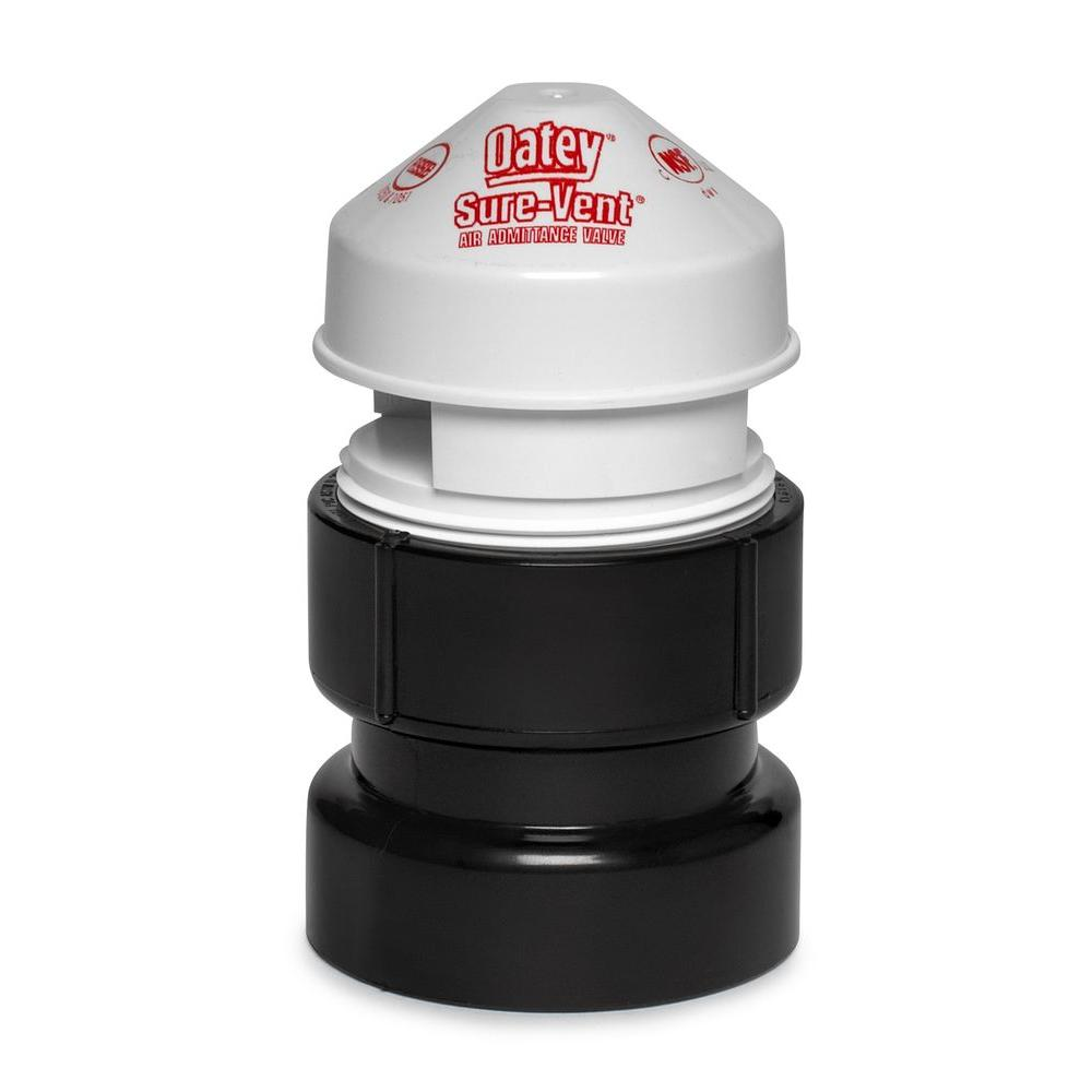Oatey Sure-Vent 1-1/2 in. x 2 in. ABS Air Admittance Valve - 160 DFU Branch, 24 DFU Stack