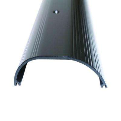 Extra High Dome 4 in. x 96 in. Bronze Aluminum Threshold