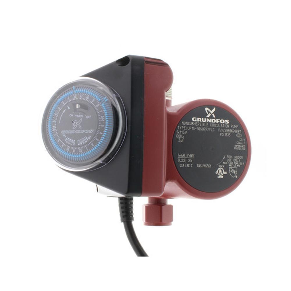 Grundfos UP15-10SU7P TLC 3/4 inch NPT 115-Volt Comfort Hot Water Recirculation... by Grundfos