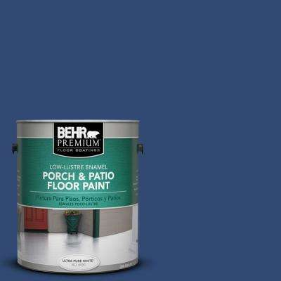 1 gal. #S-H-580 Navy Blue Low-Lustre Interior/Exterior Porch and Patio Floor Paint