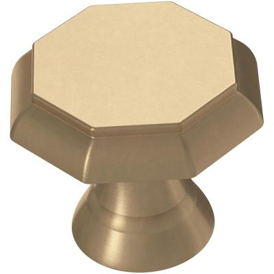 Athens 1-1/8 in. (28 mm) Champagne Bronze Octagon Cabinet Knob
