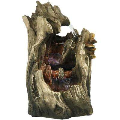 14 in. Cascading Caves Tabletop Waterfall Fountain with LED Lights