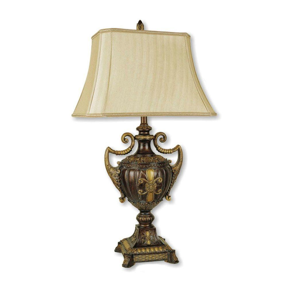 Ore International 30 In Urn Shape Antique Gold Table Lamp 8202